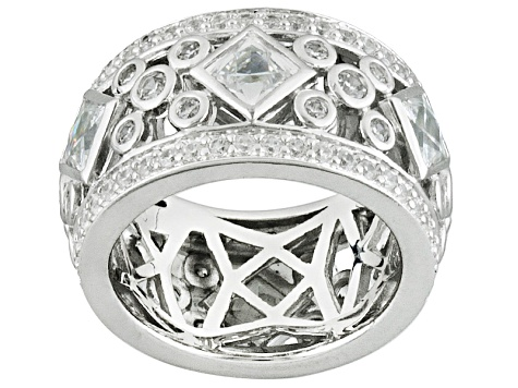 White Cubic Zirconia Platineve Ring 6.58ctw