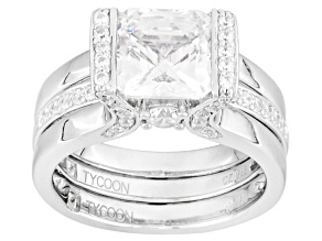 Cubic Zirconia Platineve Ring With Band 5.61ctw