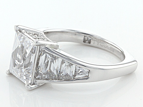 White Cubic Zirconia Platineve Ring 8.15ctw