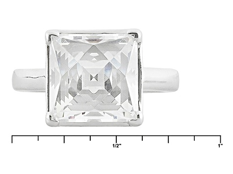 White Cubic Zirconia Platineve Ring 9.24ctw