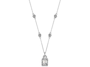 Cubic Zirconia Platineve Necklace 2.78ctw