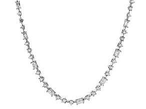 White Cubic Zirconia Platineve Necklace 22.44ctw
