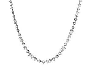 White Cubic Zirconia Platineve Necklace 22.44ctw