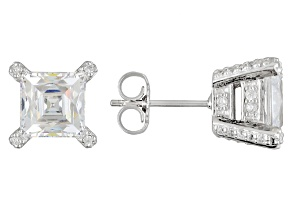 White Cubic Zirconia Platineve Earrings 6.64ctw