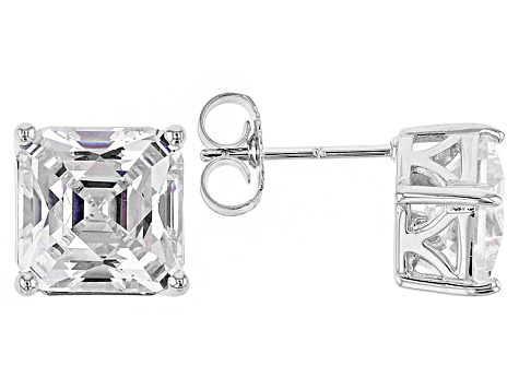 White Cubic Zirconia Platineve Earrings 5.65ctw