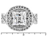 White Cubic Zirconia Platineve Ring 3.82ctw