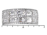 White Cubic Zirconia Platineve Ring 3.87ctw