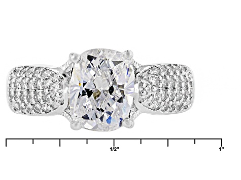 White Cubic Zirconia Platineve Ring 4.11ctw