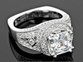 White Cubic Zirconia Platineve Ring 5.92ctw