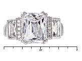 White Cubic Zirconia Platineve Ring 7.49ctw