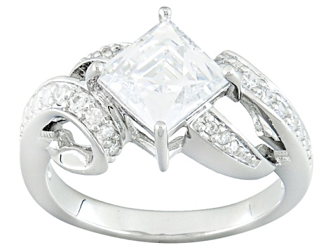 White Cubic Zirconia Platineve Ring 3.37ctw