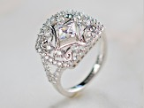 White Cubic Zirconia Platineve Ring 2.82ctw