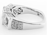 White Cubic Zirconia Platineve Ring 6.51ctw