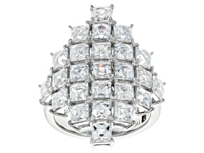 White Cubic Zirconia Platineve Ring 9.32ctw