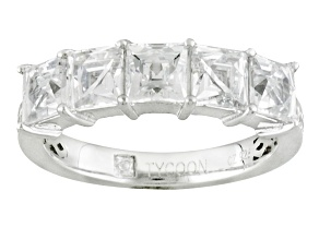 White Cubic Zirconia Platineve Ring 3.16ctw