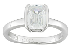 White Cubic Zirconia Platineve Ring 3.02ctw
