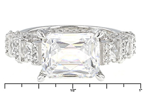 White Cubic Zirconia Platineve Ring 7.33ctw