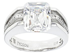 White Cubic Zirconia Platineve Ring 8.26ctw