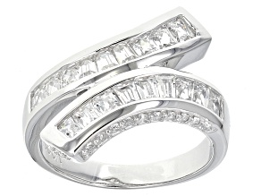 White Cubic Zirconia Platineve Ring 2.46ctw