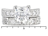 White Cubic Zirconia Platineve Ring With Band 9.21ctw