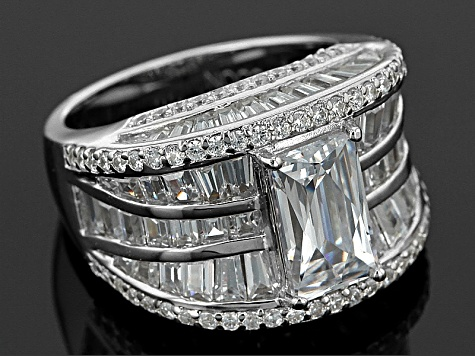 White Cubic Zirconia Platineve Ring 9.81ctw
