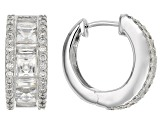 White Cubic Zirconia Platineve Earrings 8.11ctw