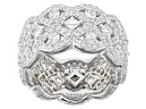 White Cubic Zirconia Platineve Ring With Bands 7.84ctw