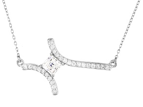 White Cubic Zirconia Platineve Necklace 1.80ctw