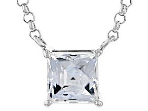 Cubic Zirconia Platineve Necklace 1.98ct (1.24ct DEW)