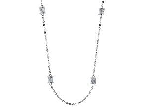 Cubic Zirconia Platineve Necklace 6.02ctw (4.56ctw DEW)