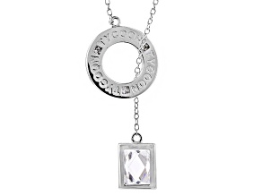 Cubic Zirconia Platineve Necklace 2.36ct (1.74ct DEW)