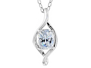 Cubic Zirconia Platineve Pendant With Chain 2.43ct (1.74ct DEW)