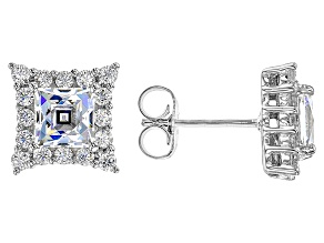 Cubic Zirconia Platineve Earrings 4.28ctw (2.62ctw DEW)