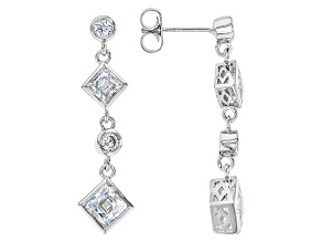 Cubic Zirconia Platineve Earrings 4.26ctw (2.64ctw DEW)
