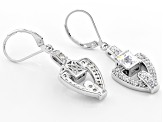 Cubic Zirconia Platineve Earrings 3.31ctw (1.96ctw DEW)