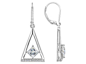 Cubic Zirconia Platineve Earrings 2.59ctw (1.60ctw DEW)