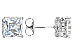 Cubic Zirconia Platineve Earrings 6.38ctw (3.92ctw DEW)