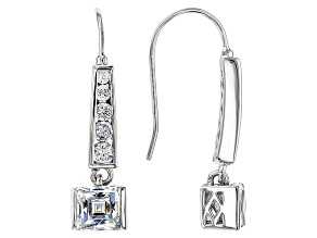 Cubic Zirconia Platineve Earrings 3.81ctw (2.44ctw DEW)