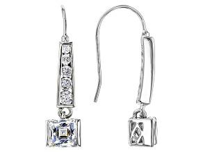 Cubic Zirconia Platineve Earrings 3.81ctw (2.44ctw DEW)