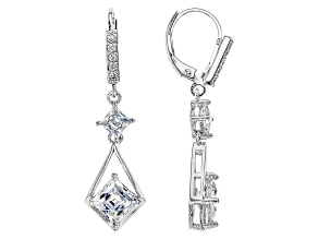 Cubic Zirconia Platineve Earrings 5.38ctw (3.41ctw DEW)