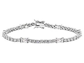 Cubic Zirconia Platineve Bracelet 13.44ctw (8.36ctw DEW)