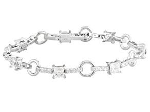 White Cubic Zirconia Platineve Bracelet 10.51ctw