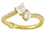 Cubic Zirconia 18k Yellow Gold Over Sterling Silver Ring 1.23ctw (.80ctw DEW)