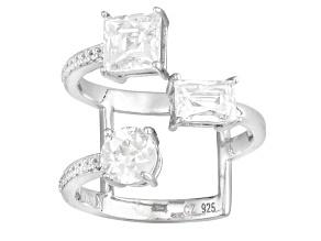 White Cubic Zirconia Platineve Ring 3.50ctw