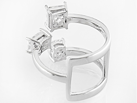 White Cubic Zirconia Platineve Ring 3.50ctw