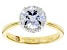 Cubic Zirconia 18k Yellow Gold Over Silver Ring 3.77ctw (2.67ctw DEW)