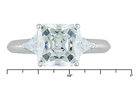 White Cubic Zirconia Platineve Ring 5.18ctw
