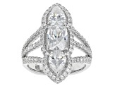 White Cubic Zirconia Platineve Ring 5.94ctw