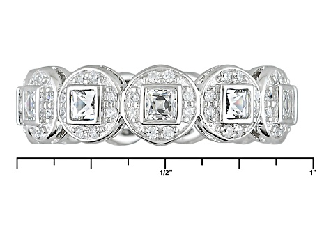 White Cubic Zirconia Platineve Ring 2.21ctw