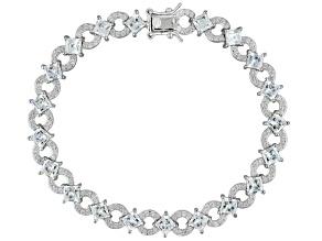 White Cubic Zirconia Platineve Bracelet 14.10ctw